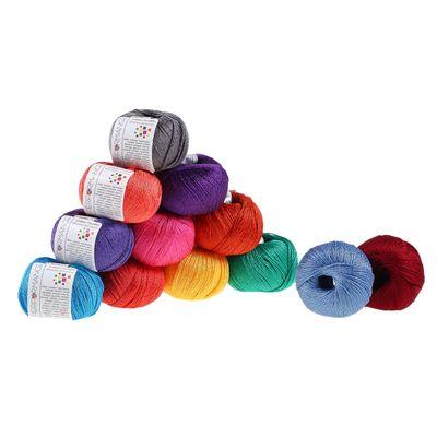 10 x 50g Strickgarn Cotton Twinkle, #235 grau – Bild 3