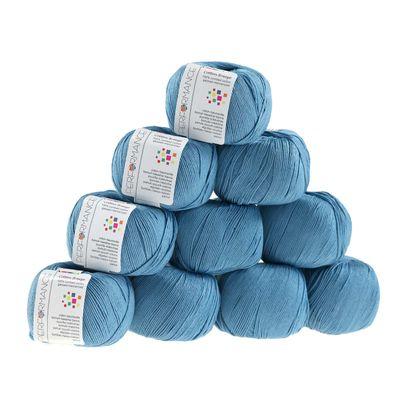 10 x 50g Strickgarn Cotton Breeze, #87 blau – Bild 1