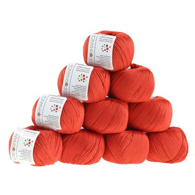 10 x 50g Strickgarn Cotton Breeze, #198 orange