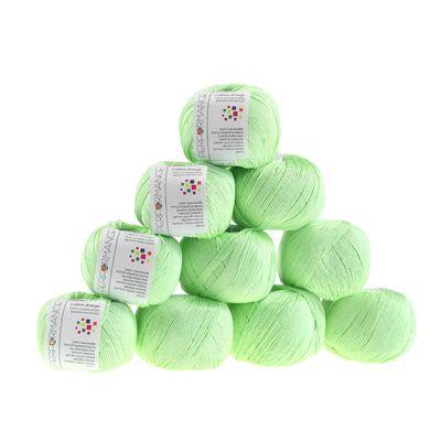 10 x 50g Strickgarn Cotton Breeze, #158 mint – Bild 1