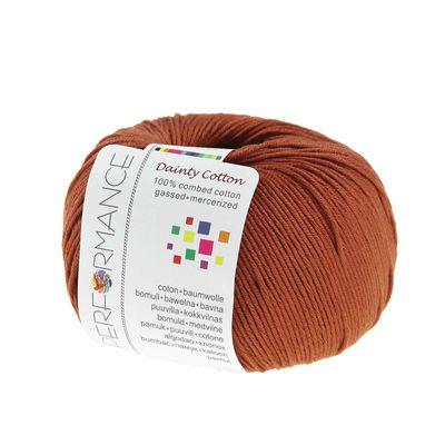 10 x 50g Strickgarn Dainty Cotton, #207 braun – Bild 2