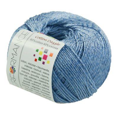 10 x 50g Strickgarn Cotton Dazzle  #92 blau – Bild 2