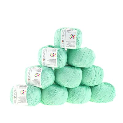 10 x 50g Strickgarn Cotton Marble, #140 mint