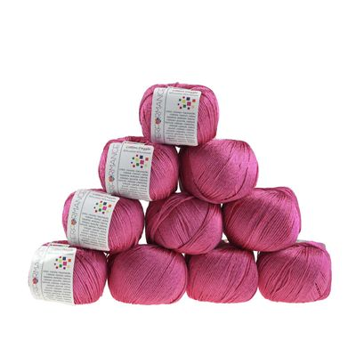 10 x 50g Strickgarn Cotton Dazzle  #34 rosa