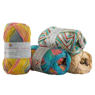 10 x 50g Strickgarn Cotton Queen Multi, #10455 Beigetöne – Bild 2