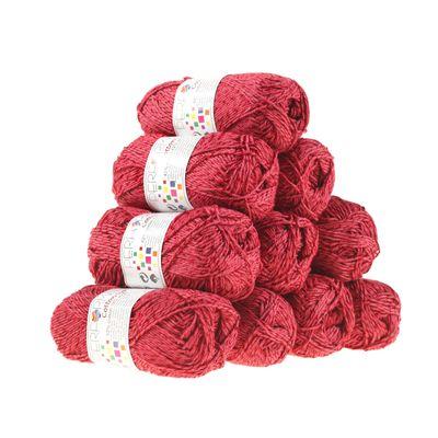 10 x 50g Strickgarn Wolle Cotton Symbiosis  #20 fuchsia