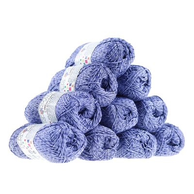 10 x 50g Strickgarn Wolle Cotton Symbiosis  #75 blau