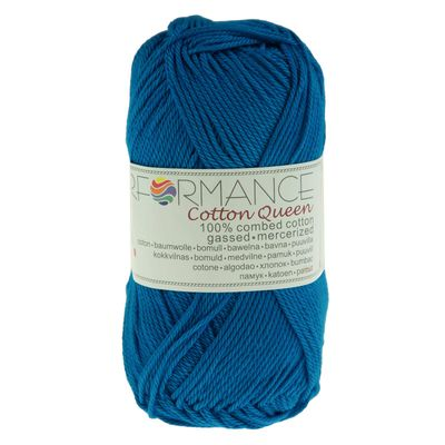 10 x 50g Strickgarn Cotton Queen, #0100 royalblau – Bild 2