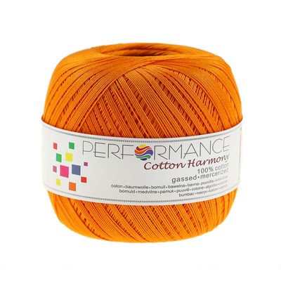 6 x 100g Häkelgarn Cotton Harmony #342 orange – Bild 2