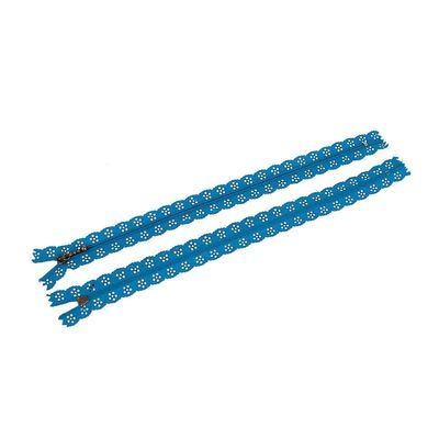 1 Spitzen-Reißverschluss Reissverschluss Spitzenreißverschluss 30cm, blau