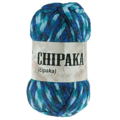 5 x 100g Strickgarn CHIPAKA No. 22 blue emotion – Bild 1