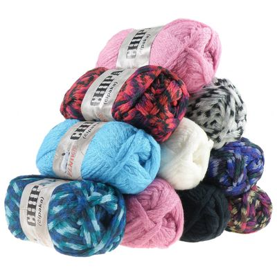 5 x 100g Strickgarn CHIPAKA No. 22 blue emotion – Bild 3