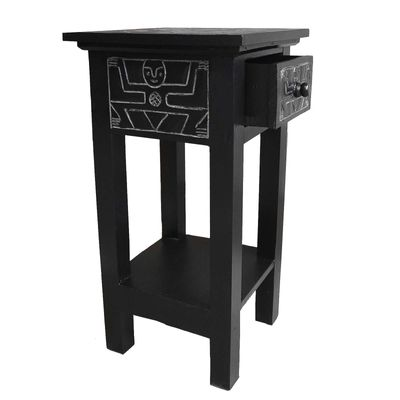 Handmade Nachttisch, Kommode, Beistelltisch, Telefontisch Albesiaholz 32x60x32cm – Bild 2