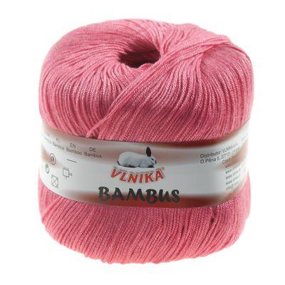 Strickgarn Häkelgarn BAMBUS by VLNIKA, #314 pinkrosa, 50g