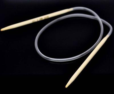 Bambus Rundstricknadel Stärke 4,5 mm Länge 40 cm Stricknadel Holz