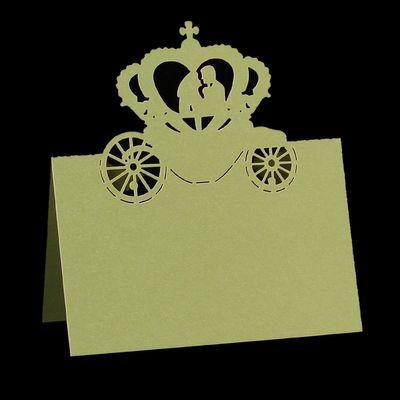 10 Romantische Tischkarten für Hochzeiten 11,8 x 8,8 cm - gelbgrün  – Bild 1