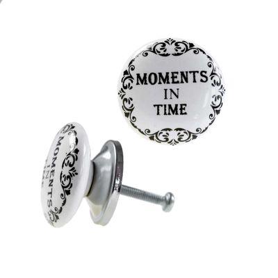 1 Möbelknopf, Möbelgriff, Möbelknopf, Knauf Keramik 37 mm, Moments in Time #0158