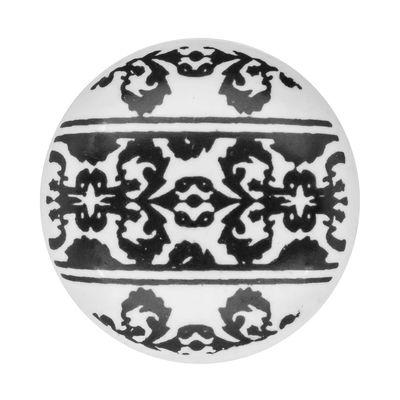 1 Möbelknopf, Möbelgriff, Möbelknopf, Knauf Keramik 37 mm, Ornaments Border #0167 – Bild 5