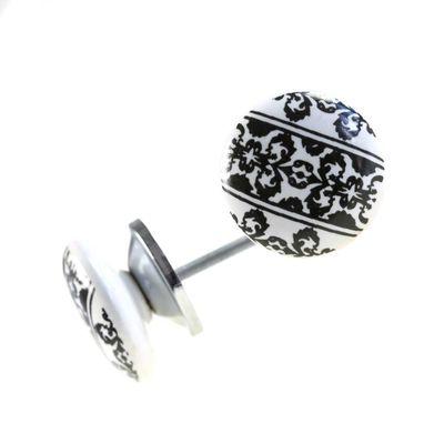 1 Möbelknopf, Möbelgriff, Möbelknopf, Knauf Keramik 37 mm, Ornaments Border #0167 – Bild 1