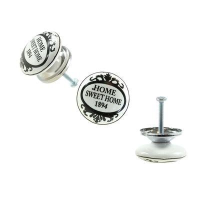 1 Möbelknopf, Möbelgriff, Möbelknopf, Knauf Keramik 37 mm, Home Sweet Home #1111 – Bild 2