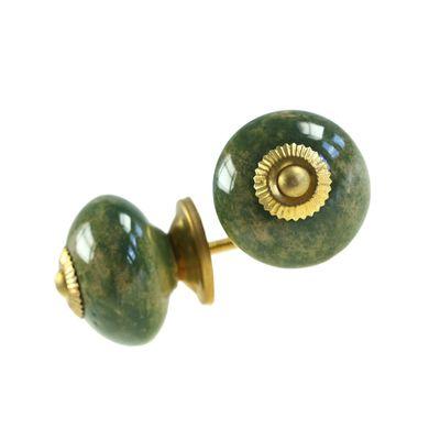 1 Möbelknopf, Möbelgriff, Möbelknopf, Knauf Keramik 43 mm, keralagrün #3431