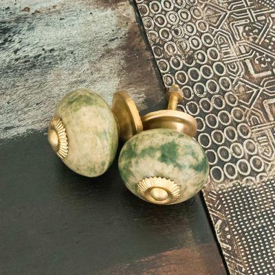 1 Möbelknopf, Möbelgriff, Möbelknopf, Knauf Keramik 43 mm, paradiso #3437 – Bild 4
