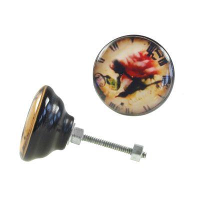 1 Möbelknopf, Möbelgriff, Möbelknopf, Knauf Acryl 40 mm, Timerose #0461 – Bild 1
