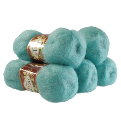 5 x 50g Strickgarn ALIZE KID ROYAL #457 aqua – Bild 1