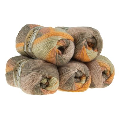Strickgarn ALIZE ANGORA GOLD BATIK 100g, Nr. 4741 summer evening – Bild 2