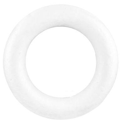 1 Styropor Kranz Durchmesser 33cm, weiß