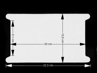 50 stabile Wickelkarten aus Pappe, 22,5 x 12,5 cm, weiß – Bild 2