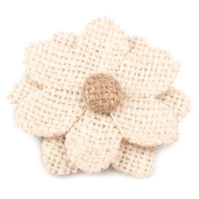10 Blüten aus Jute  60mm