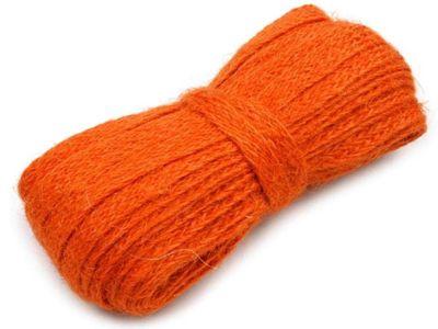 10 m Juteband, Dekoband 11 mm #07 orangerot