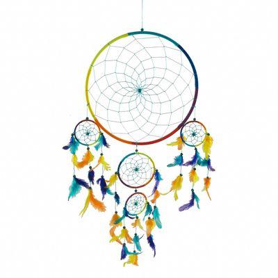 Dreamcatcher - Traumfänger KUNTERBUNT  30 cm 4 x klein handmade