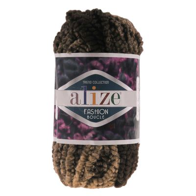 Strickgarn ALIZE FASHION BOUCLE, 100g #5574 Brauntöne – Bild 1