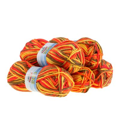 5 x 100g Strickgarn 200 by VLNIKA, #18 Summerflower – Bild 1