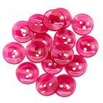12 Hübsche Knöpfe in Perlmutt-Optik, aus Kunststoff,  12 mm, rot 001