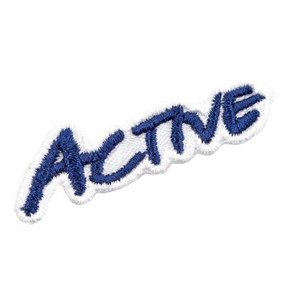 1 Applikation Aufbügler Aufnäher, Schriftzug ACTIVE