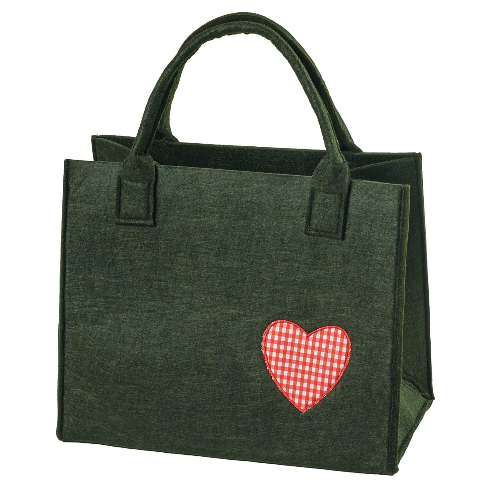 Filztasche 35x20x43cm Einkaufstasche Handtasche Shopper 2-farbig o. Motiv – Bild 19