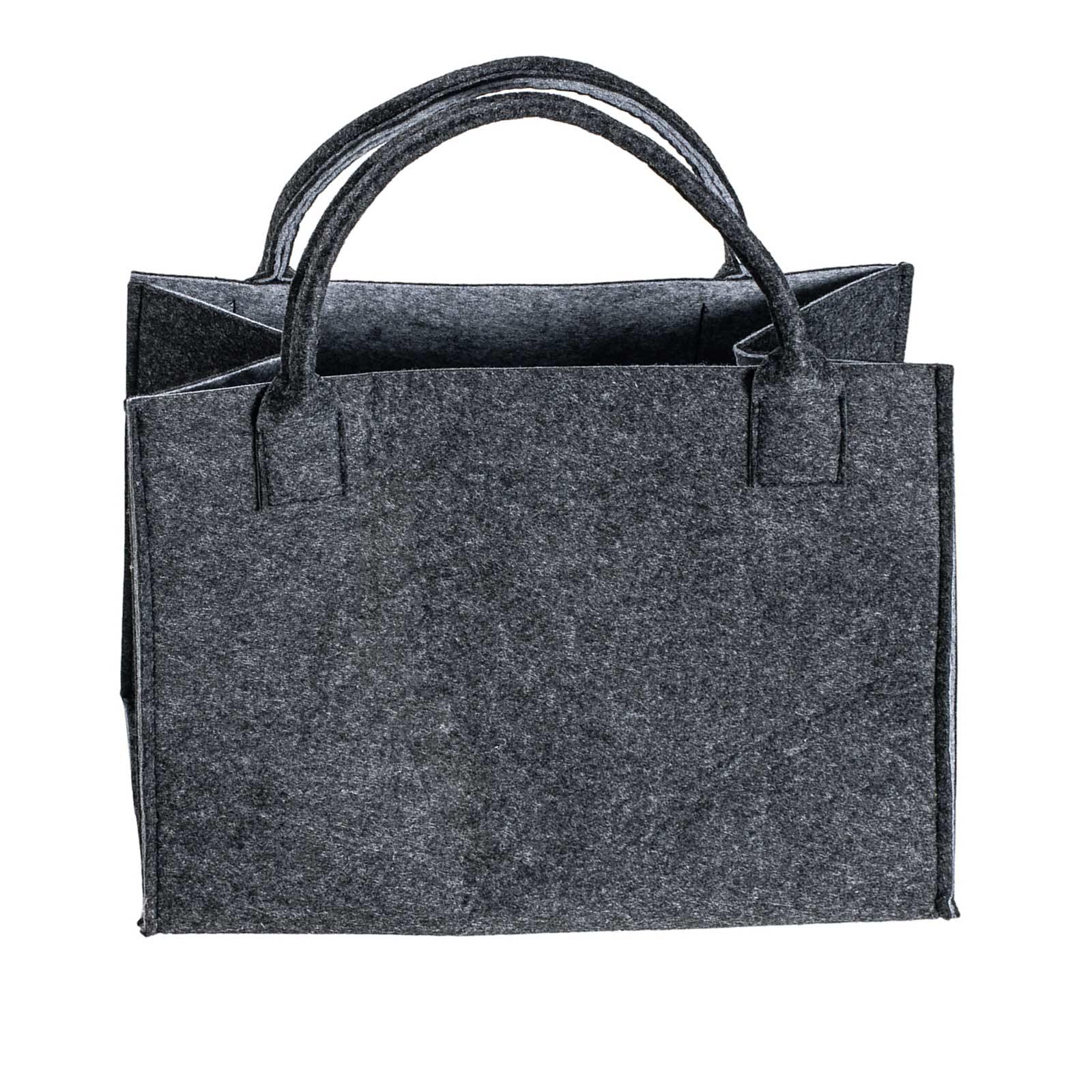 Filztasche 35x20x43cm Einkaufstasche Handtasche Shopper 2-farbig o. Motiv – Bild 3