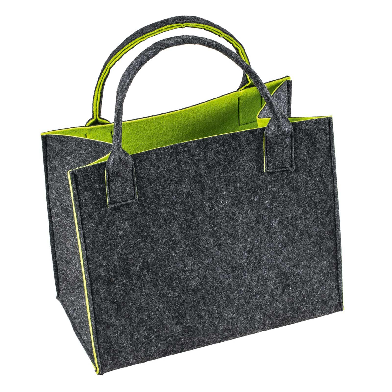Filztasche 35x20x43cm Einkaufstasche Handtasche Shopper 2-farbig o. Motiv – Bild 2