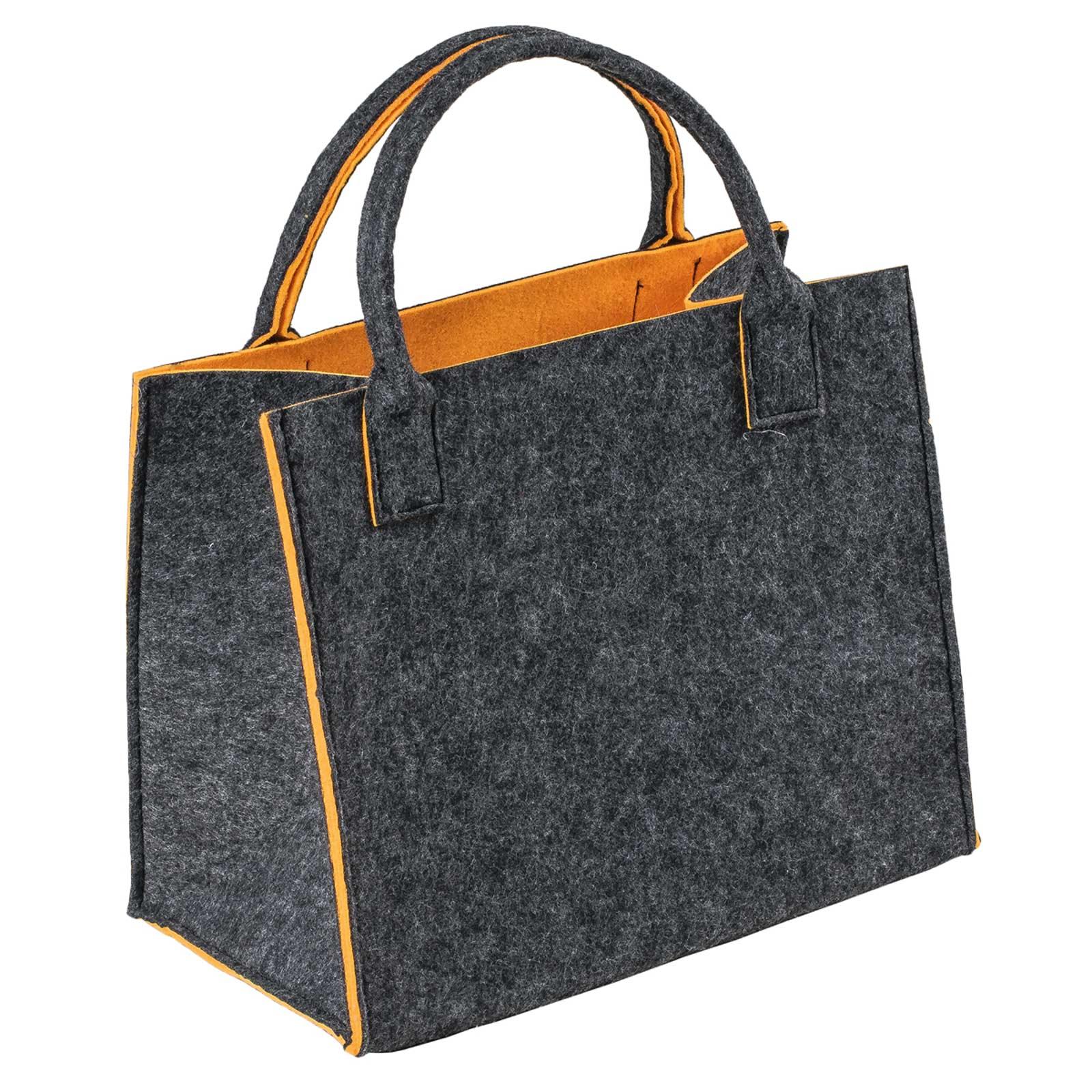 Filztasche 35x20x43cm Einkaufstasche Handtasche Shopper 2-farbig o. Motiv – Bild 4