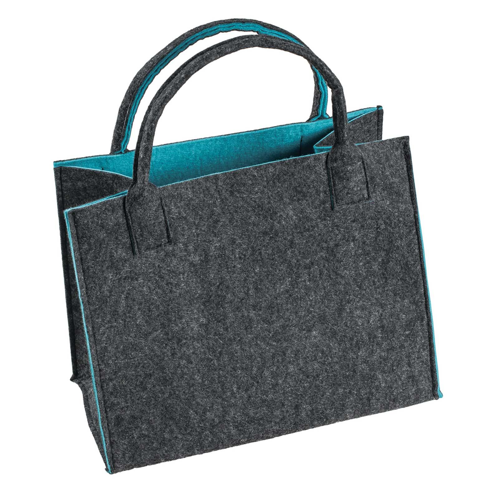 Filztasche 35x20x43cm Einkaufstasche Handtasche Shopper 2-farbig o. Motiv – Bild 7