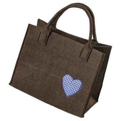 Filztasche 35x20x43cm Einkaufstasche Handtasche Shopper 2-farbig o. Motiv – Bild 8