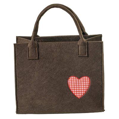 Filztasche 35x20x43cm Einkaufstasche Handtasche Shopper 2-farbig o. Motiv – Bild 11