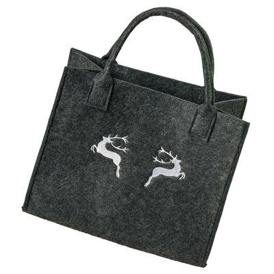 Filztasche 35x20x43cm Einkaufstasche Handtasche Shopper 2-farbig o. Motiv – Bild 14