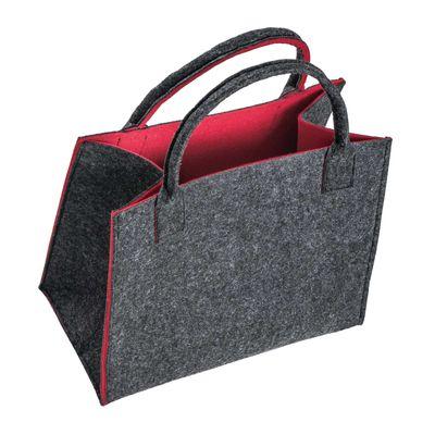 Filztasche 35x20x43cm Einkaufstasche Handtasche Shopper 2-farbig o. Motiv – Bild 6