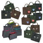 Filztasche 35x20x43cm Einkaufstasche Handtasche Shopper 2-farbig o. Motiv 001