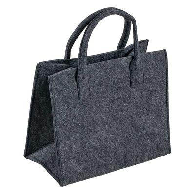 Filztasche mit Griff, 35x20x43cm, zum gleich Benutzen oder Aufhübschen, Grautöne – Bild 2
