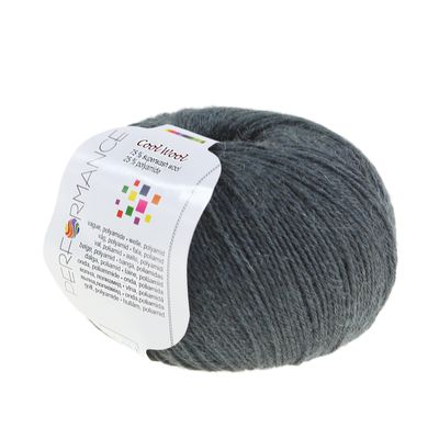 Strickgarn COOL WOOL 50g #236 dunkelgrau 75% Superwash Wolle – Bild 1